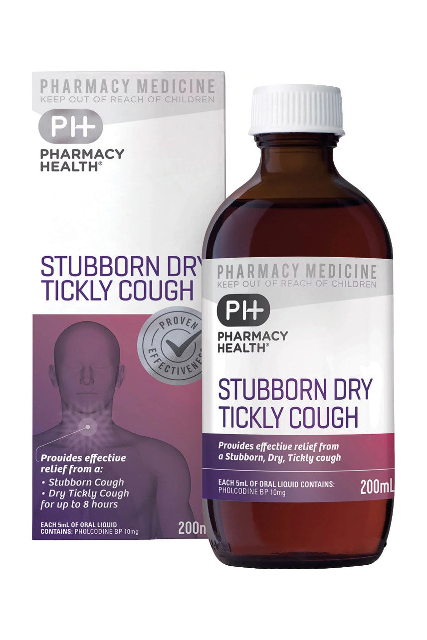 PHARMACY HEALTH Stubborn Dry Tickly Cough 200ml - Life Pharmacy St Lukes