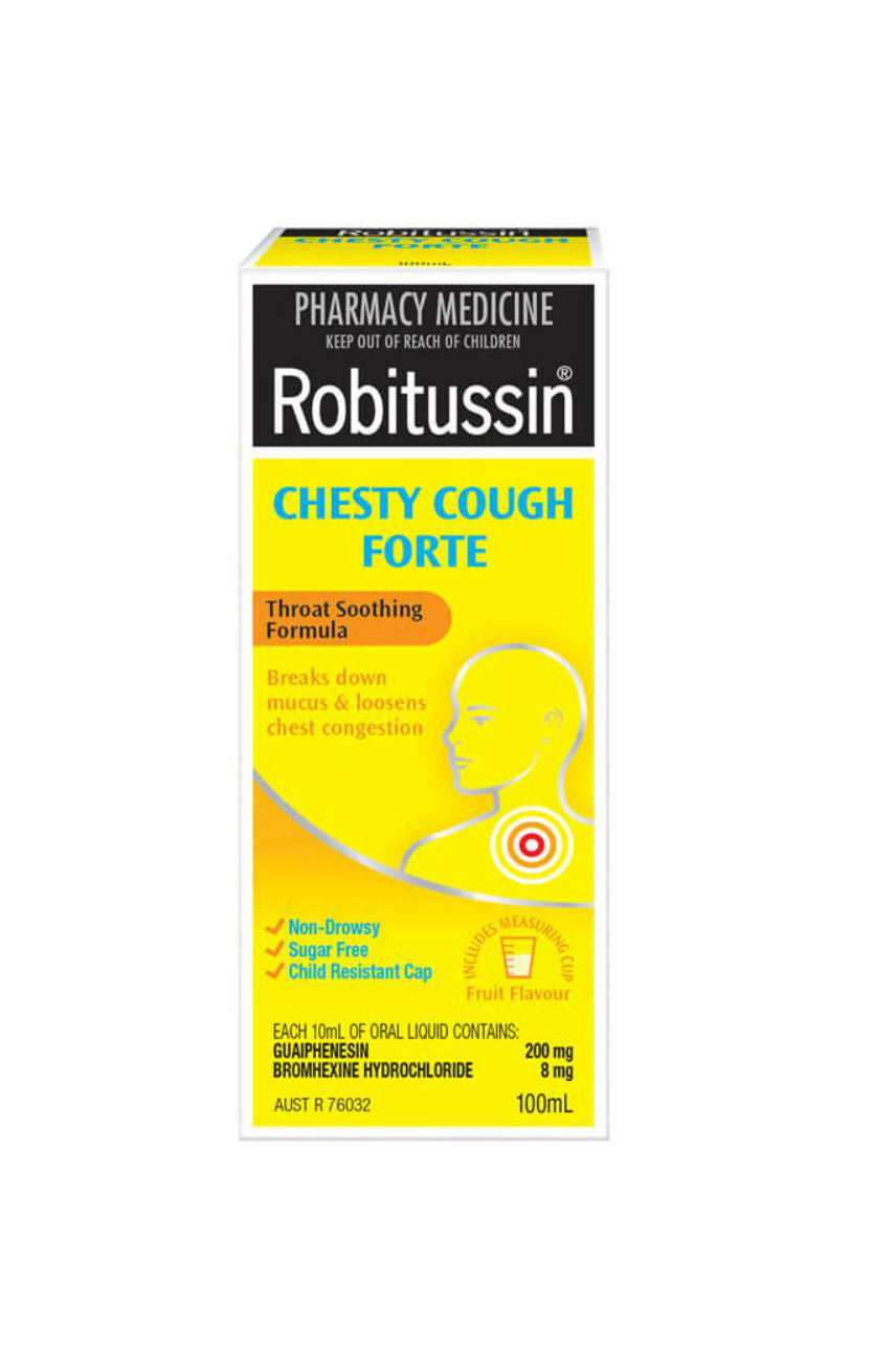 ROBITUSSIN Chesty Cough Forte 100ml - Life Pharmacy St Lukes