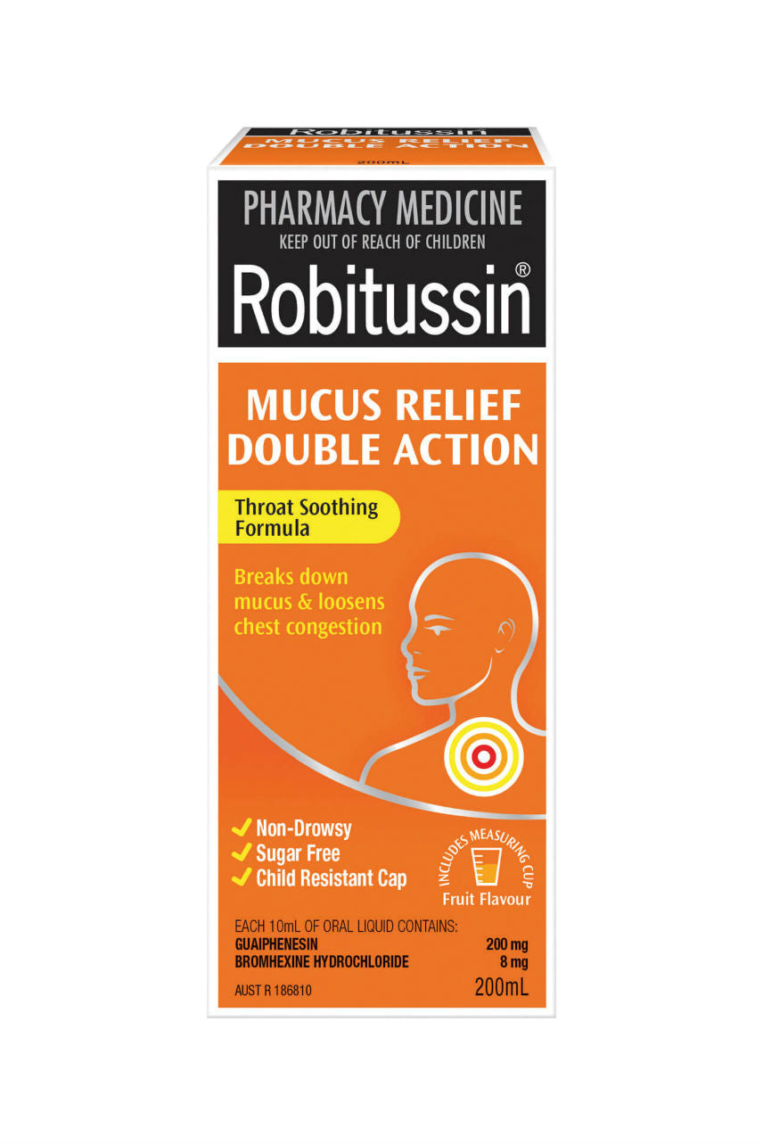ROBITUSSIN Mucus Relief Double Action 200ml - Life Pharmacy St Lukes