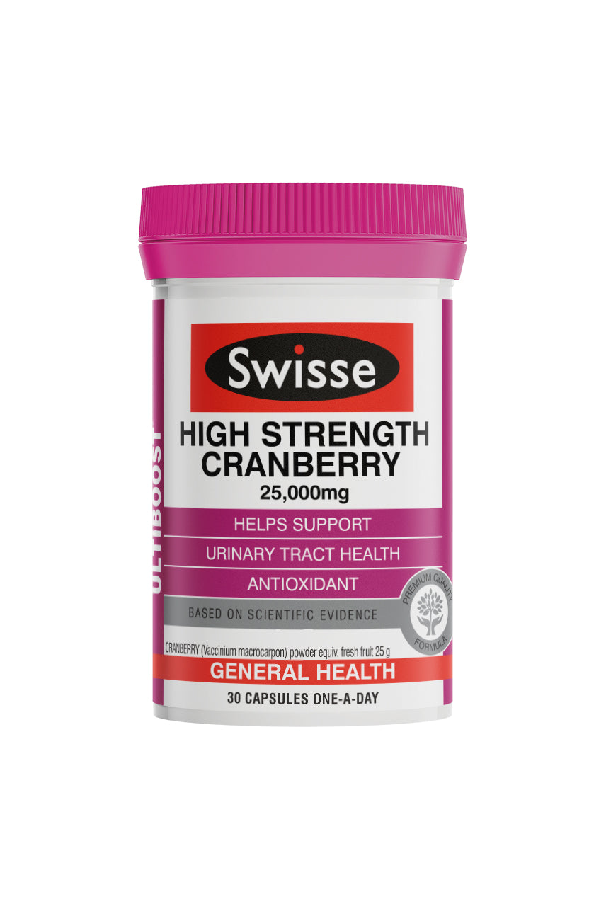 SWISSE Ultiboost High Strength Cranberry 30caps - Life Pharmacy St Lukes