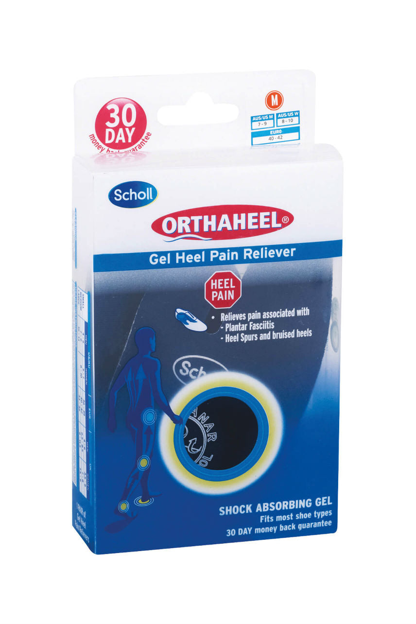 SCHOLL Orthaheel Gel Heel Pain Reliever M - Life Pharmacy St Lukes