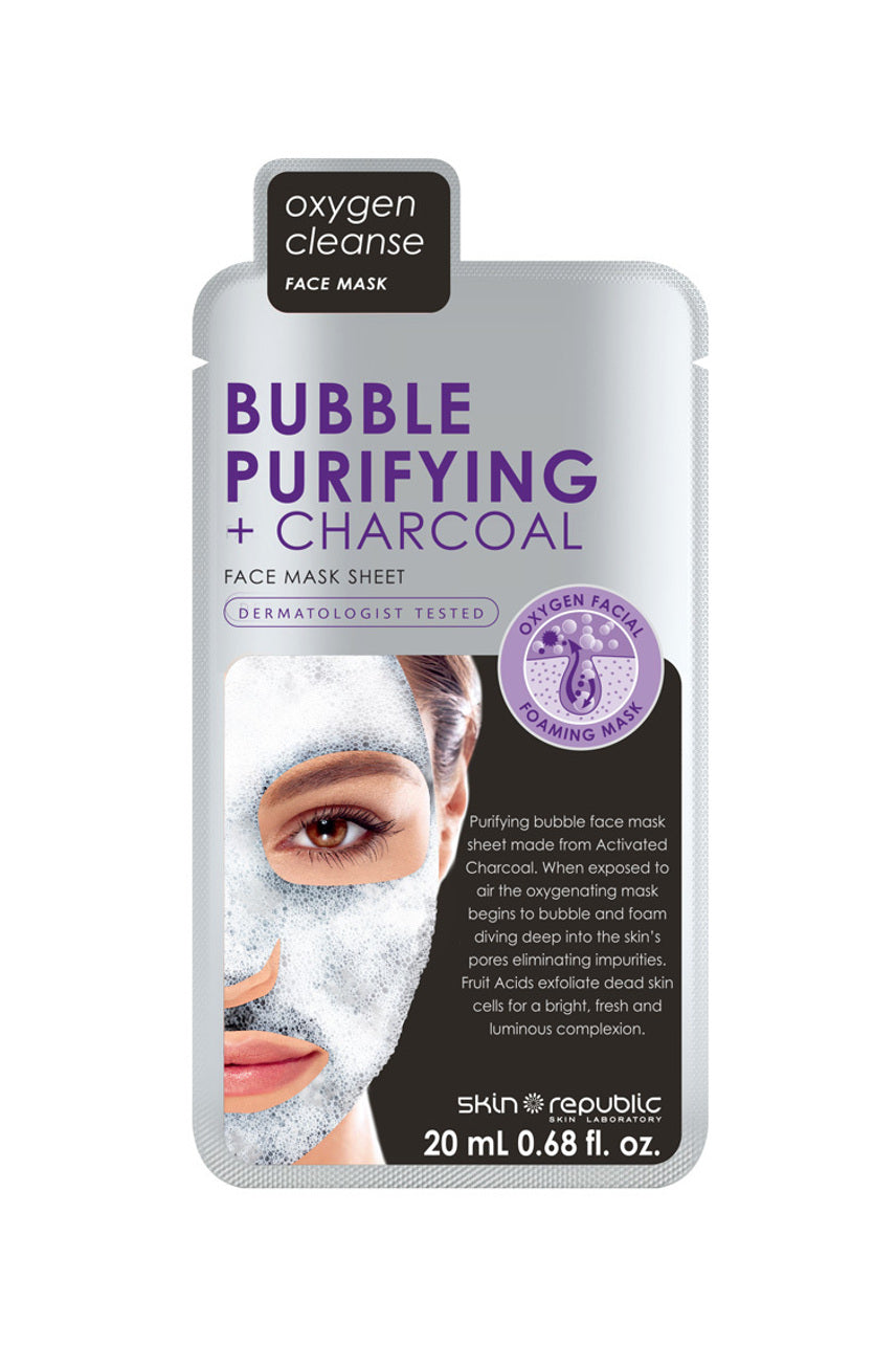 SKIN REPUBLIC Bubble Purifying + Charcoal Face Mask 20ml - Life Pharmacy St Lukes