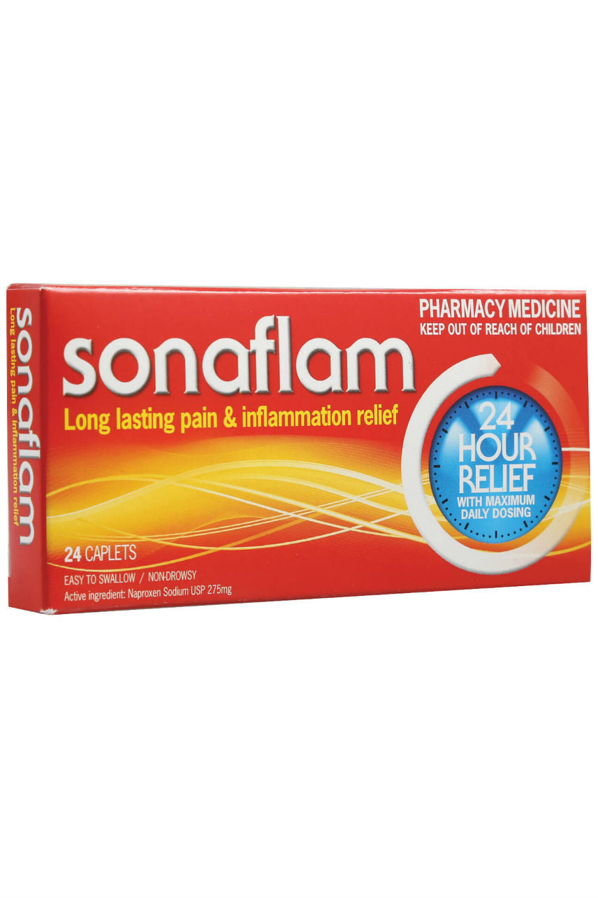SONAFLAM Naproxen USP 275mg 24caps - Life Pharmacy St Lukes