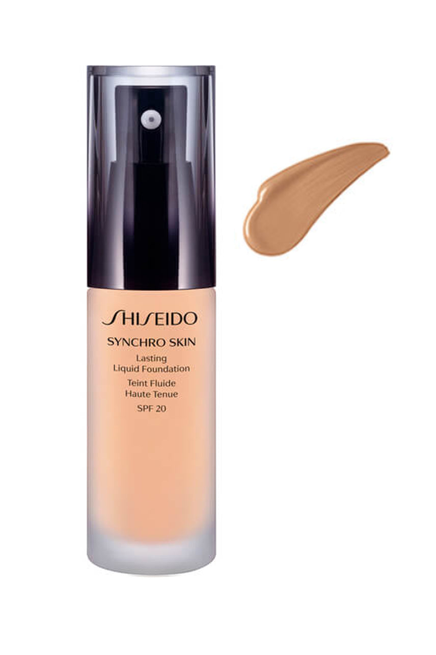 SHISEIDO Synchro Skin Lasting Liquid Foundation Golden 3 - Life Pharmacy St Lukes