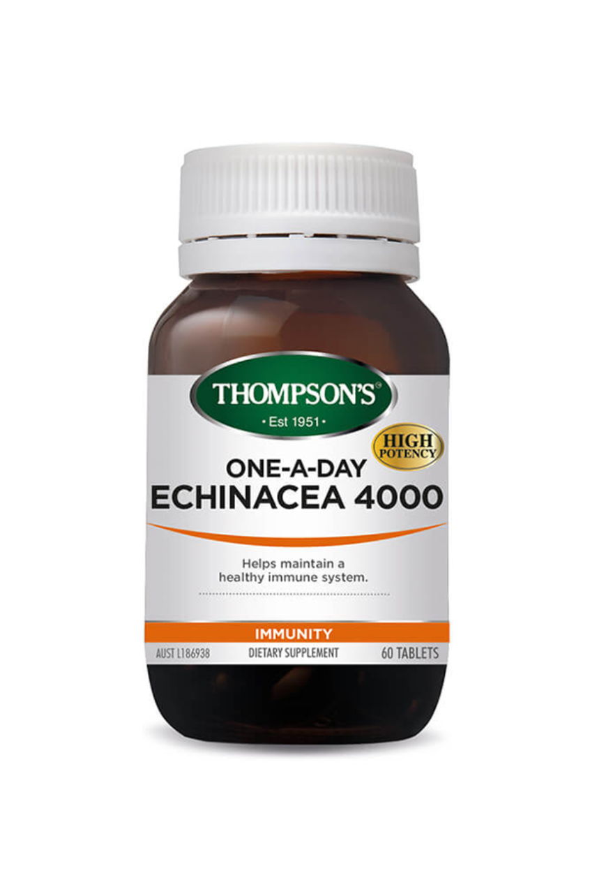 THOMPSONS Echinacea 4000 One-A-Day 60tabs - Life Pharmacy St Lukes