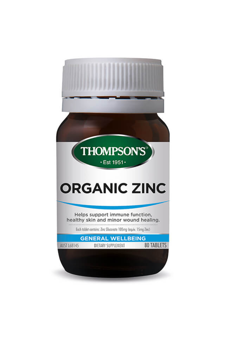 THOMPSONS Organic Zinc 80tabs - Life Pharmacy St Lukes