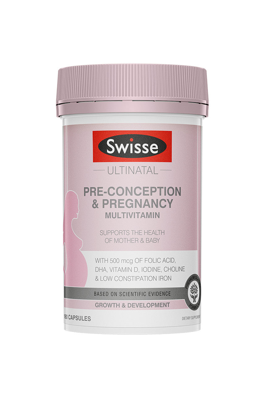SWISSE Ultinatal Pre-Conception & Pregnancy Vitamin 180 Caps - Life Pharmacy St Lukes