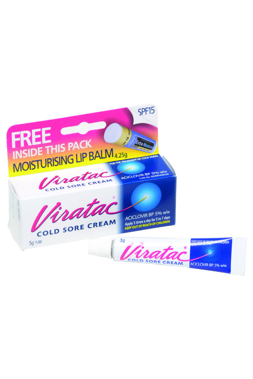 VIRATAC Cold Sore Cream 5% 5g + Lip Balm - Life Pharmacy St Lukes