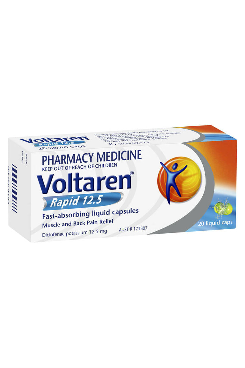 Voltaren Rapid 12.5mg Liquid Caps 20s - Life Pharmacy St Lukes