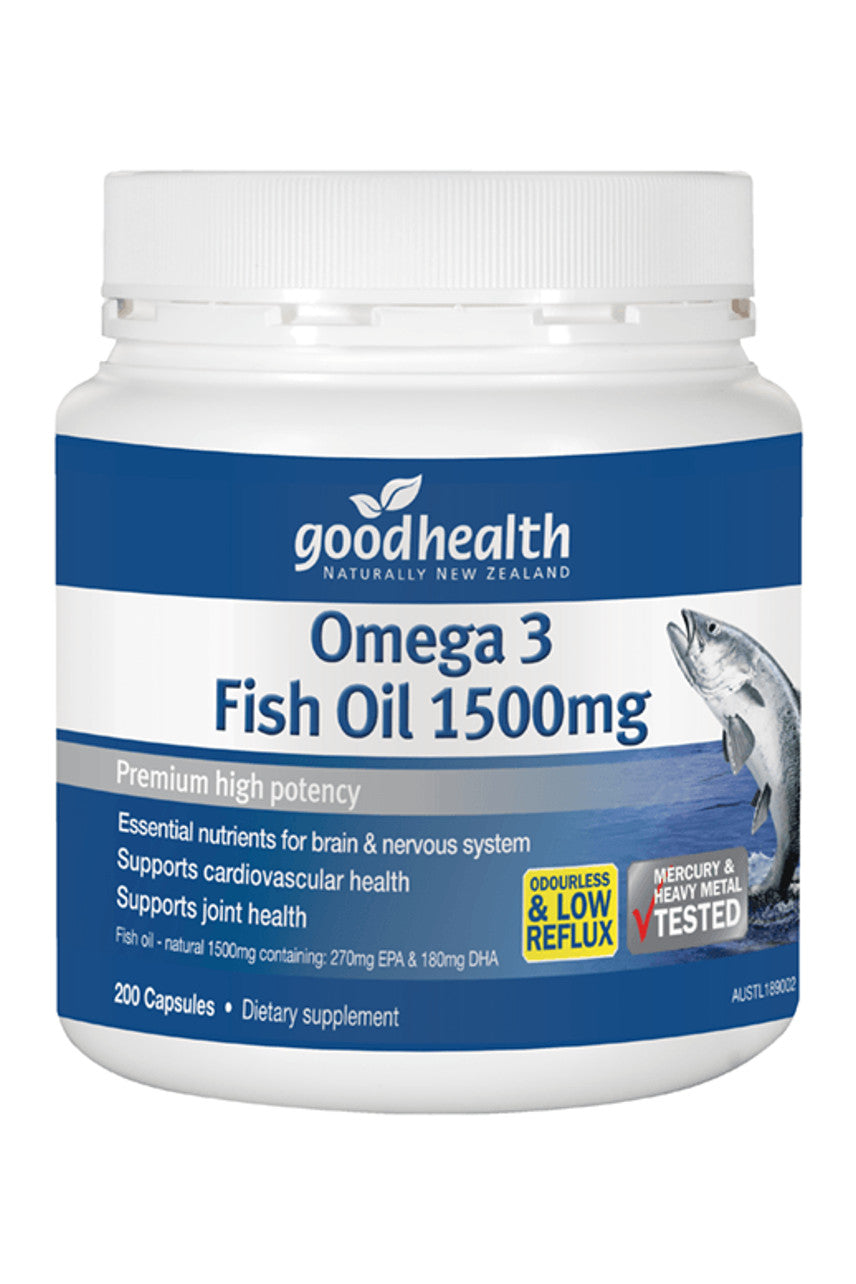 GOOD HEALTH Omega 3 Fish Oil 1500mg 200caps - Life Pharmacy St Lukes