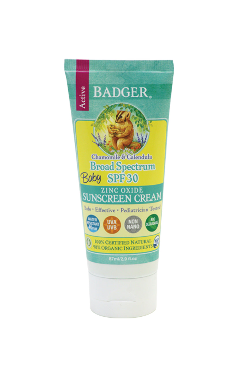 BADGER Sunscreen SPF30 Baby Cream 82.2g - Life Pharmacy St Lukes