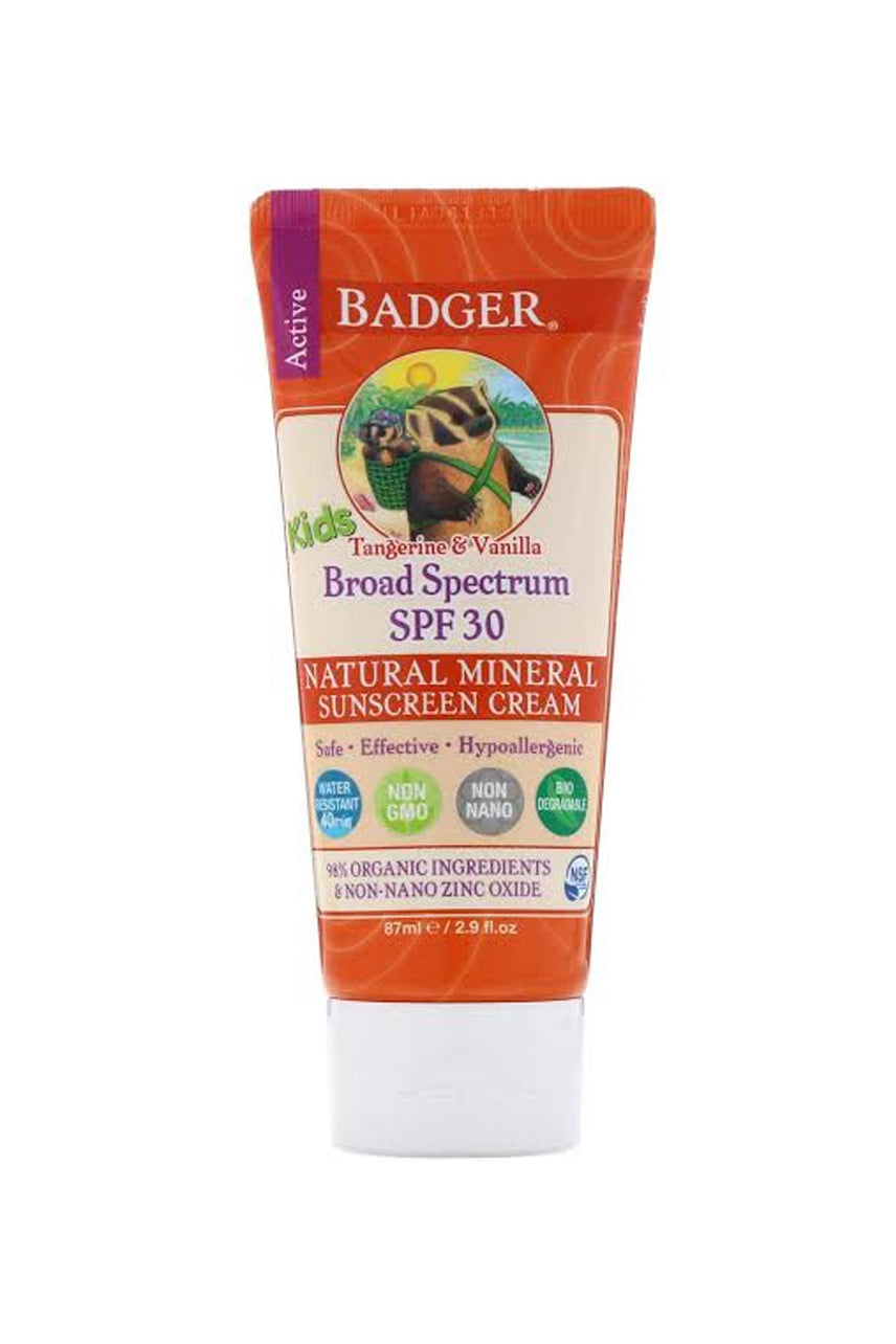 BADGER Sunscreen Cream Kids SPF30 82.2g - Life Pharmacy St Lukes
