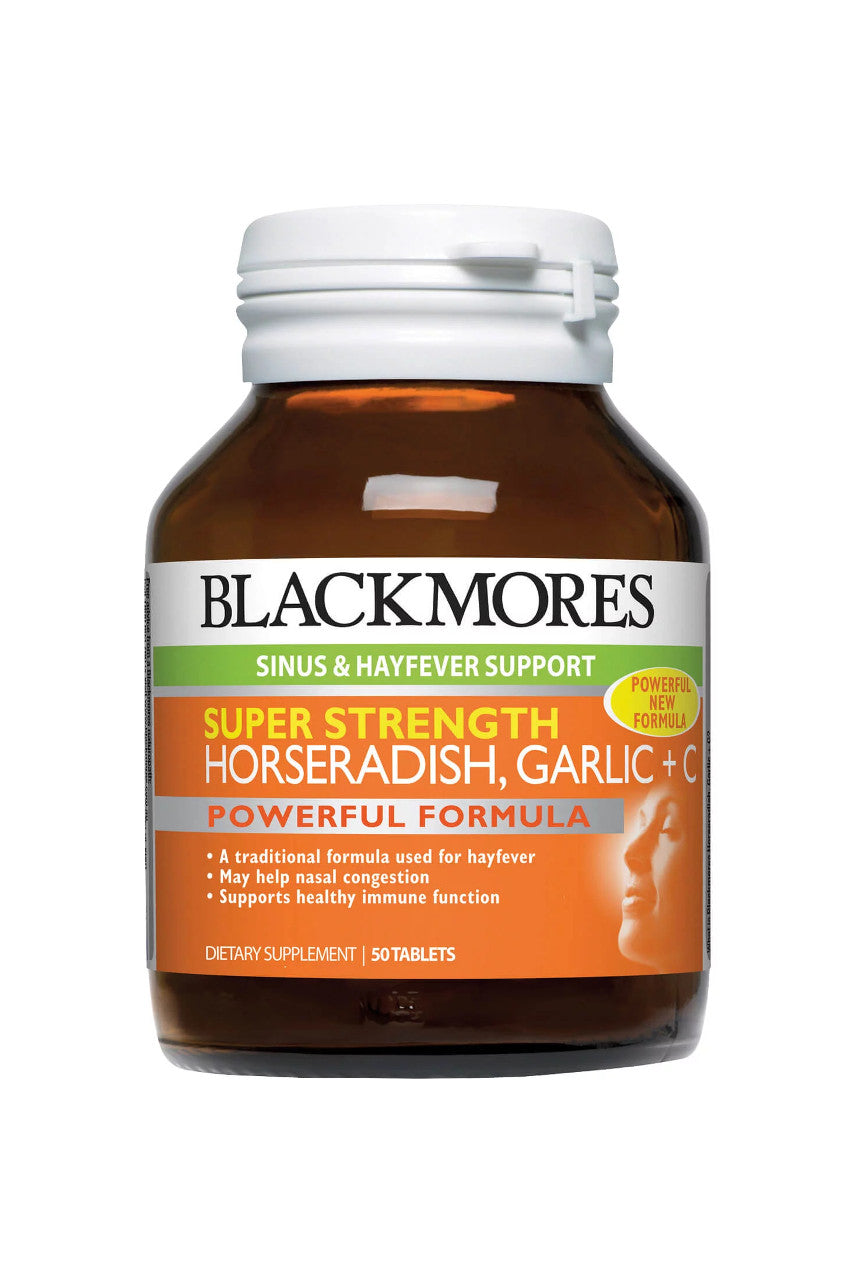 Blackmores Super Strength Horseradish Garlic + C 50tabs - Life Pharmacy St Lukes