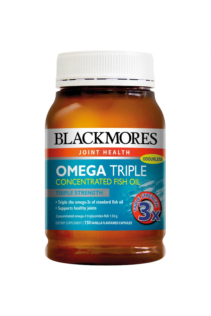 Blackmores Omega Triple Concentrated Fish Oil Capsules 150 - Life Pharmacy St Lukes