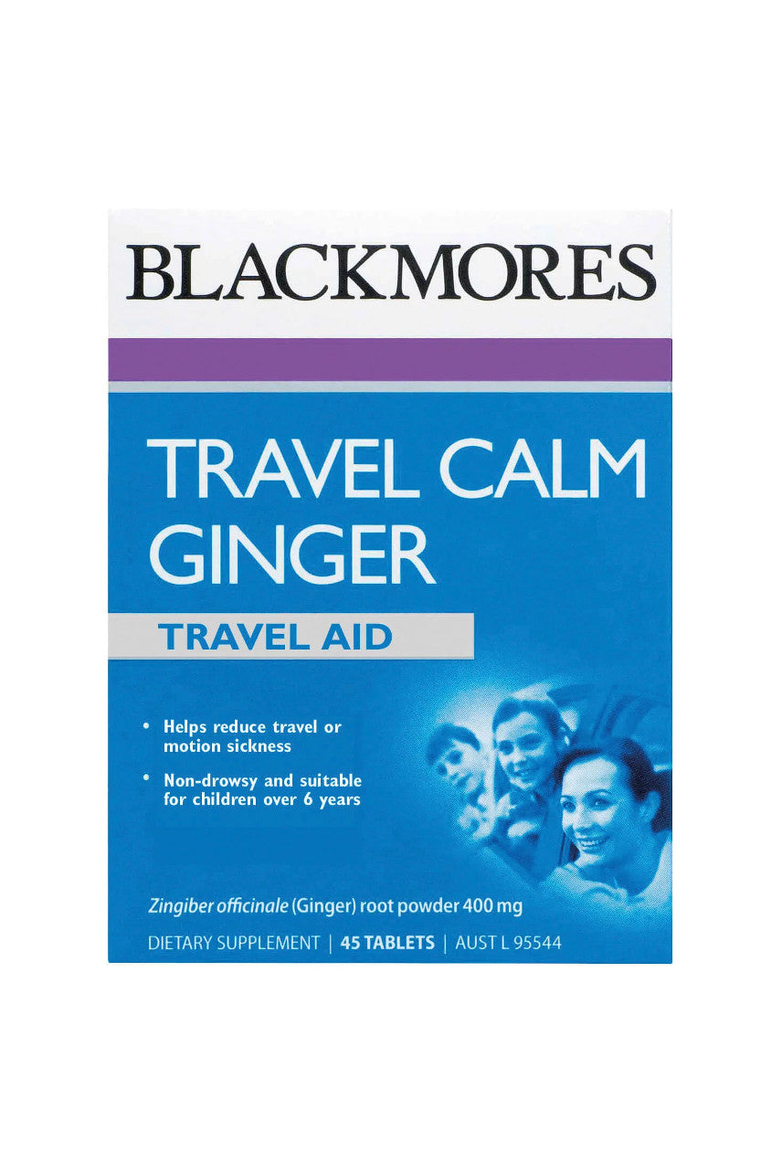 Blackmores Travel Calm Ginger 45tabs - Life Pharmacy St Lukes