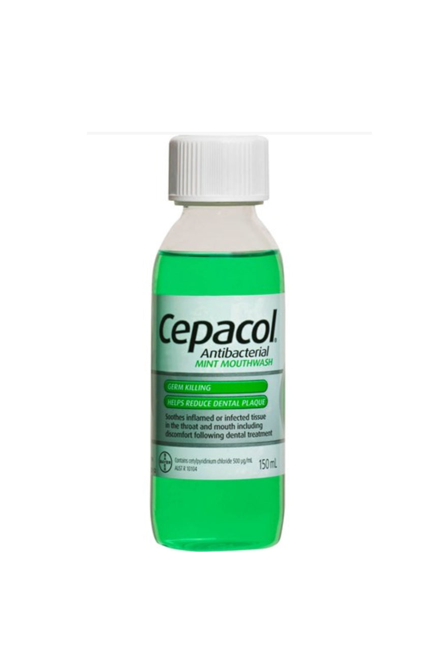 CEPACOL Mouth Wash Solution Mint 150ml - Life Pharmacy St Lukes
