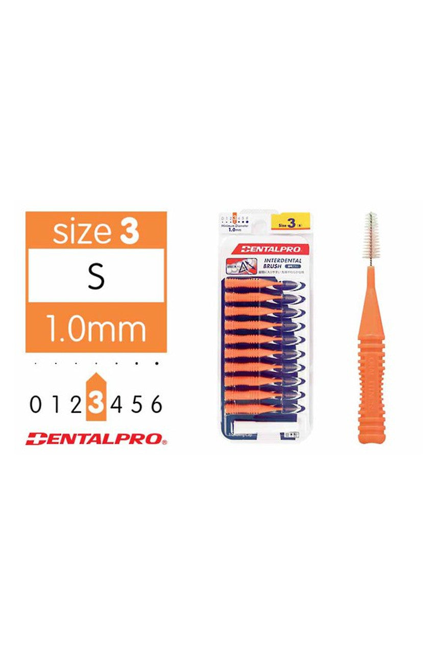 DENTALPRO Interdental Brush Size 3 Orange - Life Pharmacy St Lukes