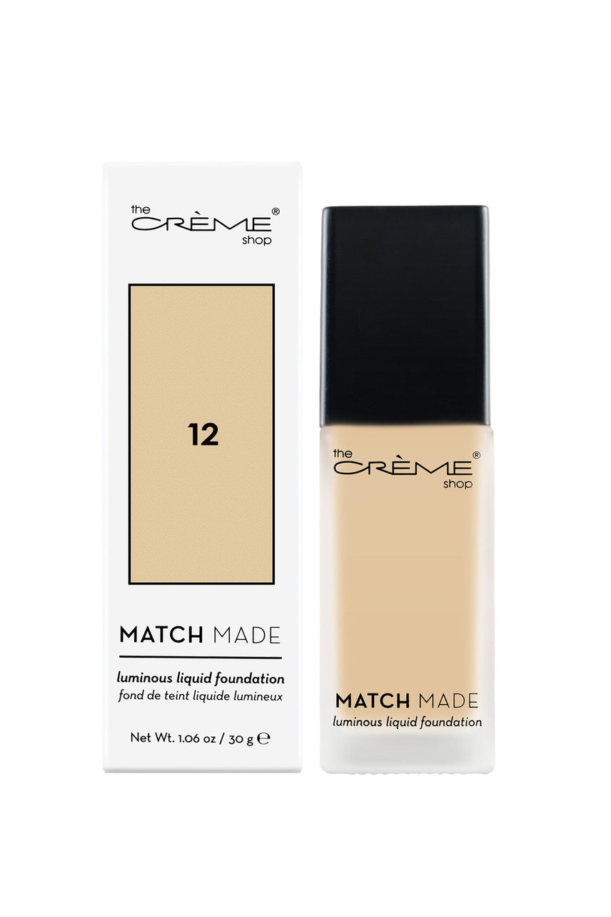THE CRÈME SHOP Match Made Luminous Liquid Foundation 12 30g - Life Pharmacy St Lukes