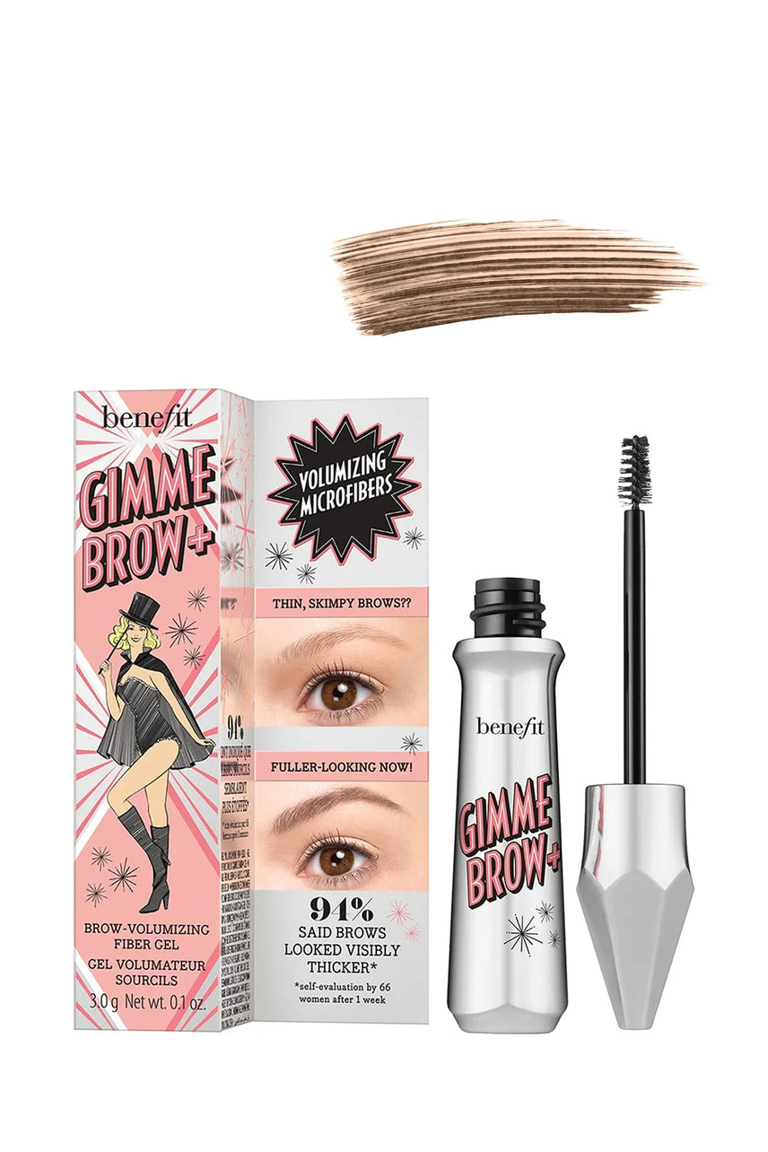 BENEFIT Gimme Brow+ Volumising Eyebrow Gel 04 Warm Deep Brown 3g - Life Pharmacy St Lukes