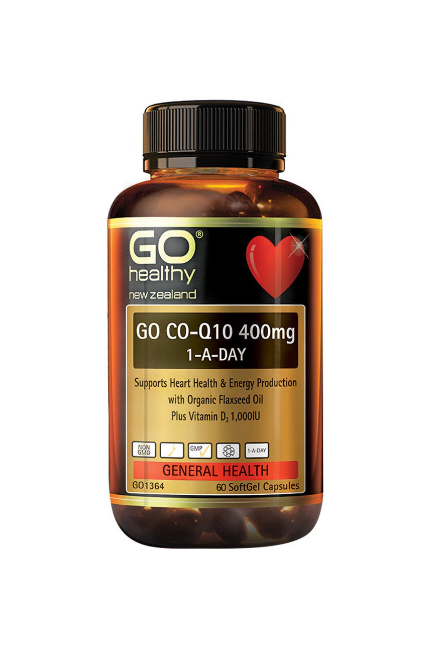 GO HEALTHY CoQ10 400mg 1-A-Day 60caps - Life Pharmacy St Lukes