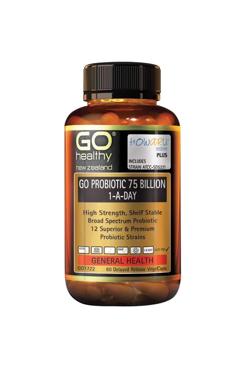 GO HEALTHY Probiotic 75 Billion 60vcaps - Life Pharmacy St Lukes