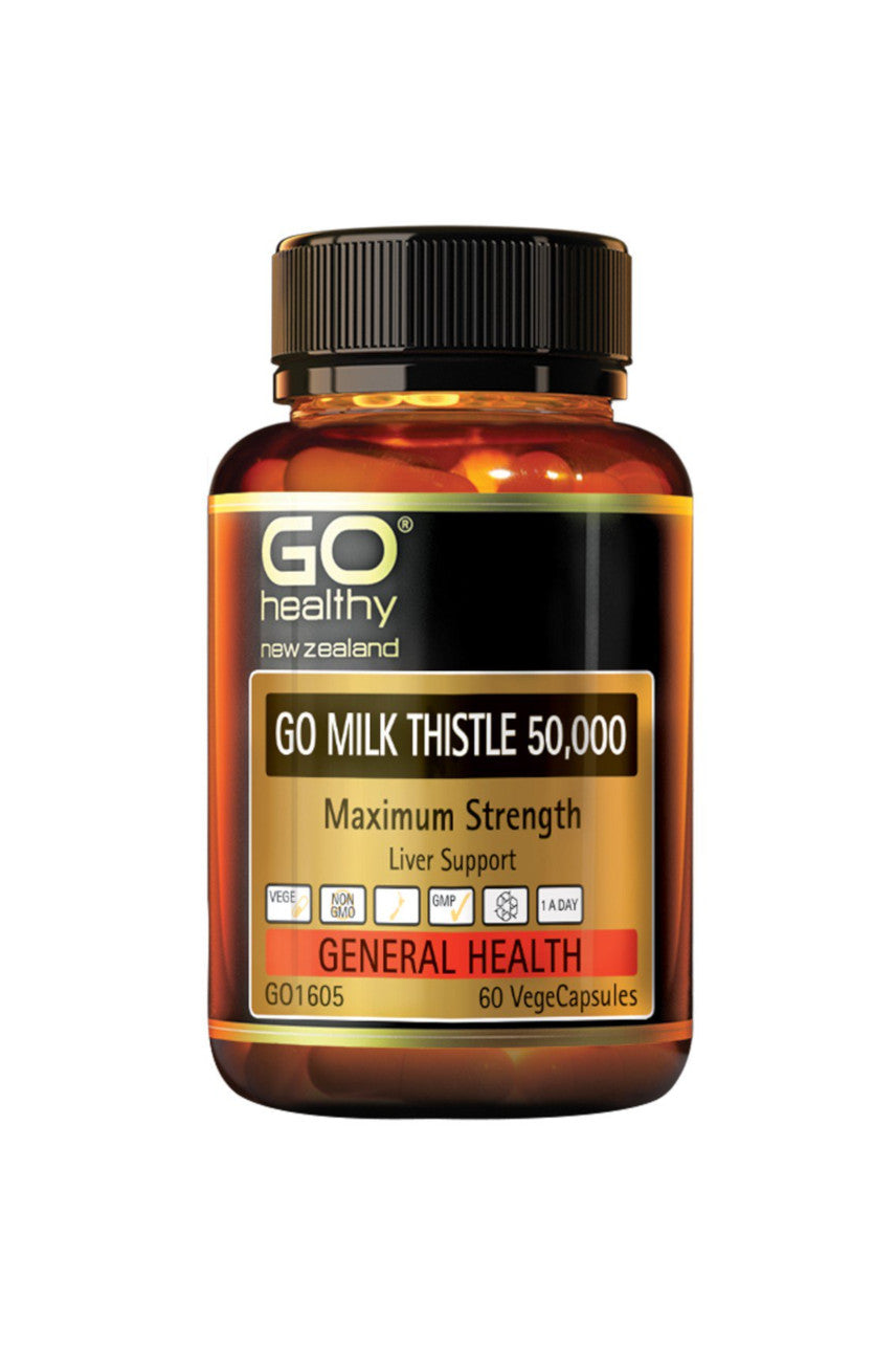 GO Healthy Milk Thistle 50000 60vcaps - Life Pharmacy St Lukes