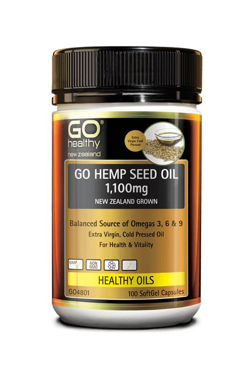 GO HEALTHY Hemp Seed Oil 1100mg NZ 100Cap - Life Pharmacy St Lukes