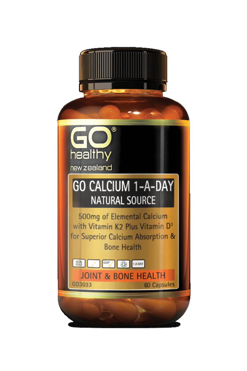 GO Healthy Calcium 1-A-Day Natural Source 60caps - Life Pharmacy St Lukes