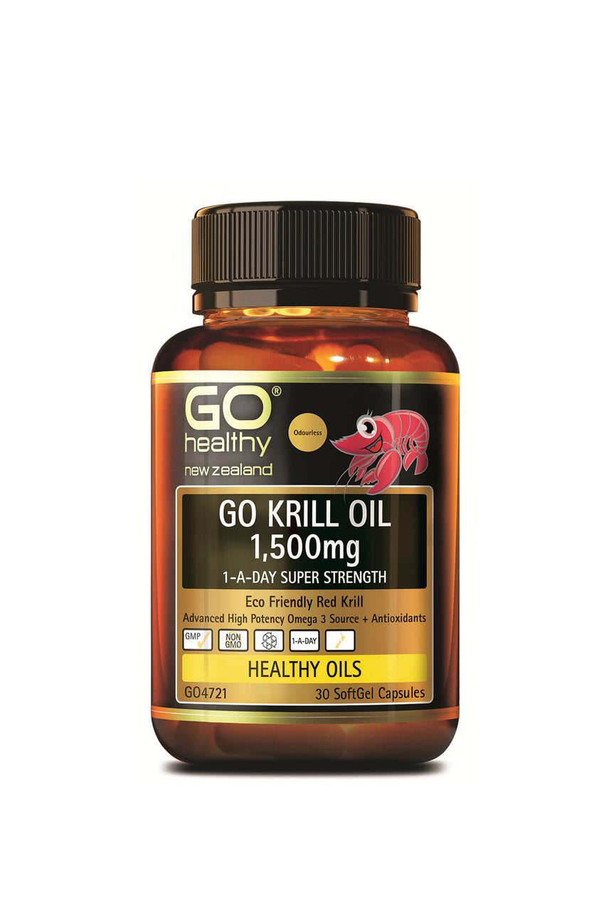 GO HEALTHY  Krill Oil 1500mg 1-A-Day 30 Capsules - Life Pharmacy St Lukes