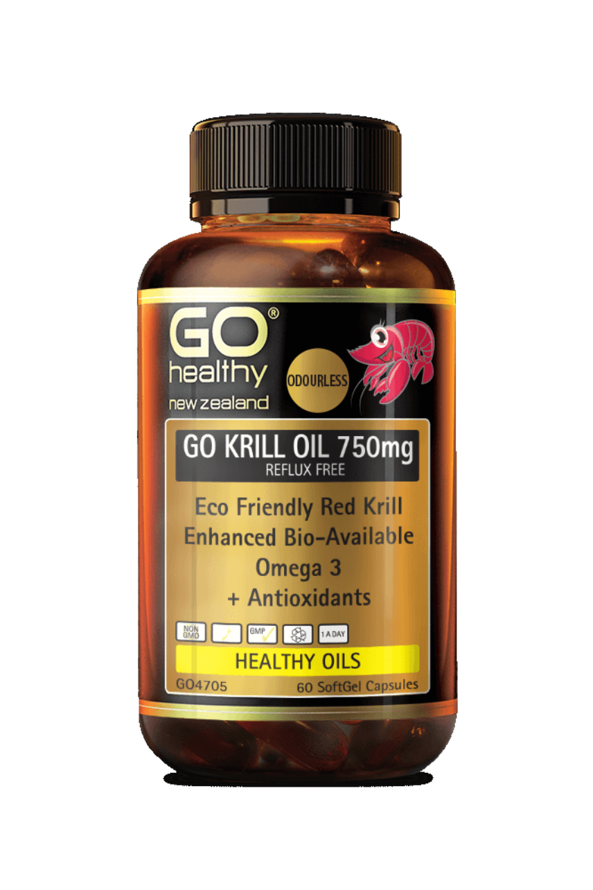 GO HEALTHY Krill Oil 750mg Reflux Free 60cap - Life Pharmacy St Lukes