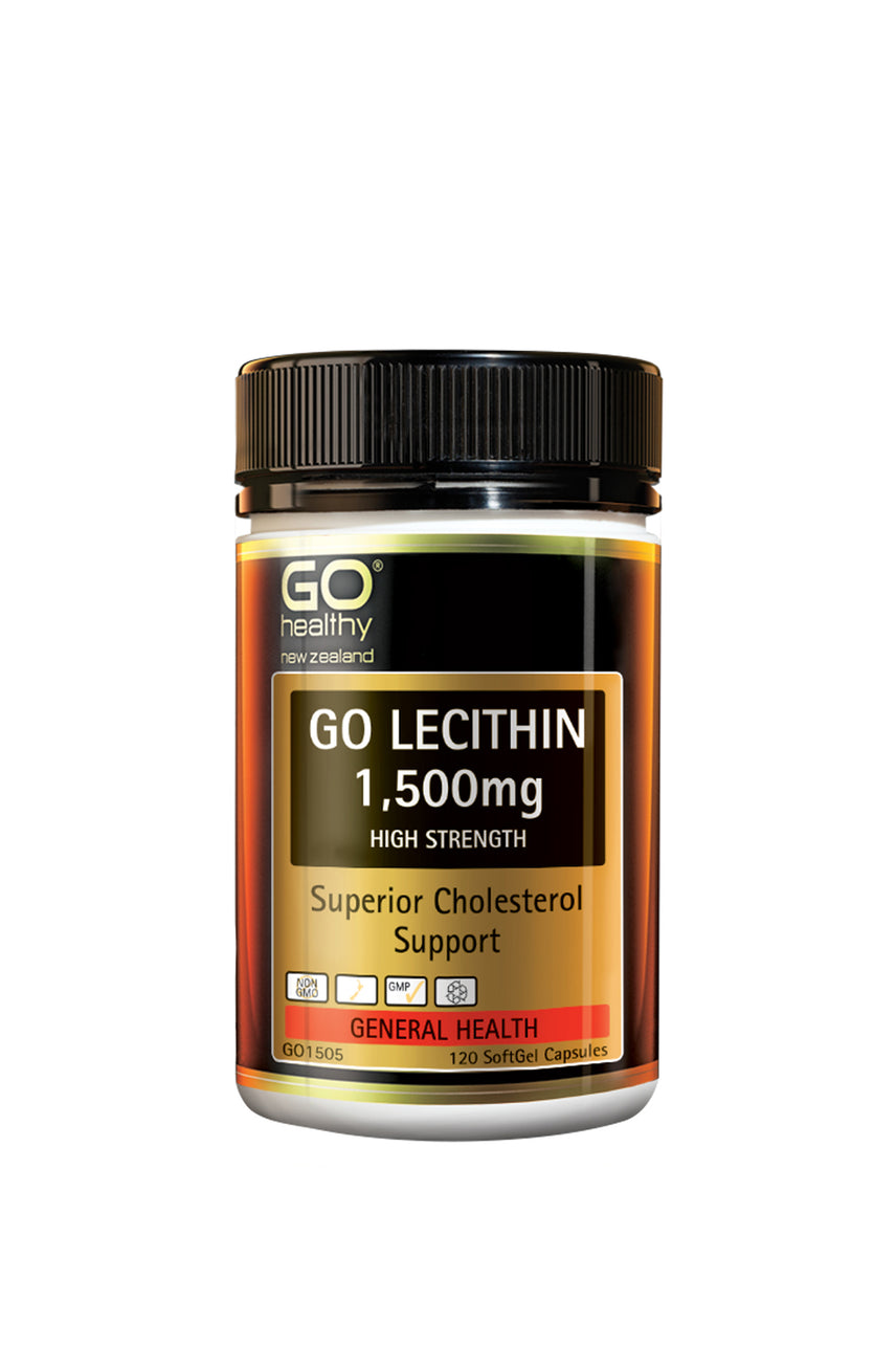 GO HEALTHY Lecithin 1500 Cholesterol Support 120 Capsules - Life Pharmacy St Lukes