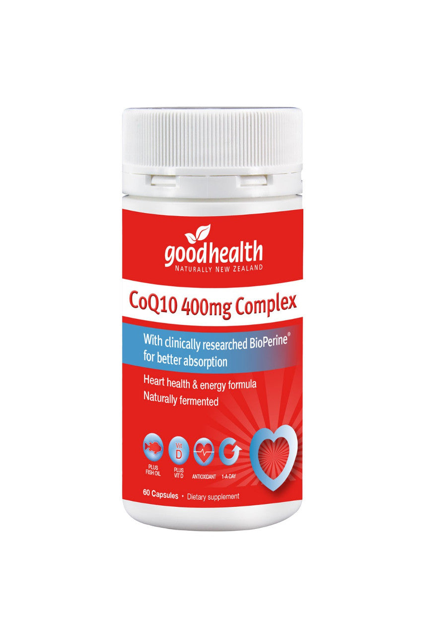 GOOD HEALTH CoQ10 400mg Complex 60caps - Life Pharmacy St Lukes