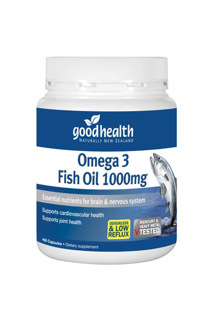GOOD HEALTH Omega 3 Fish Oil 1000mg 400caps - Life Pharmacy St Lukes