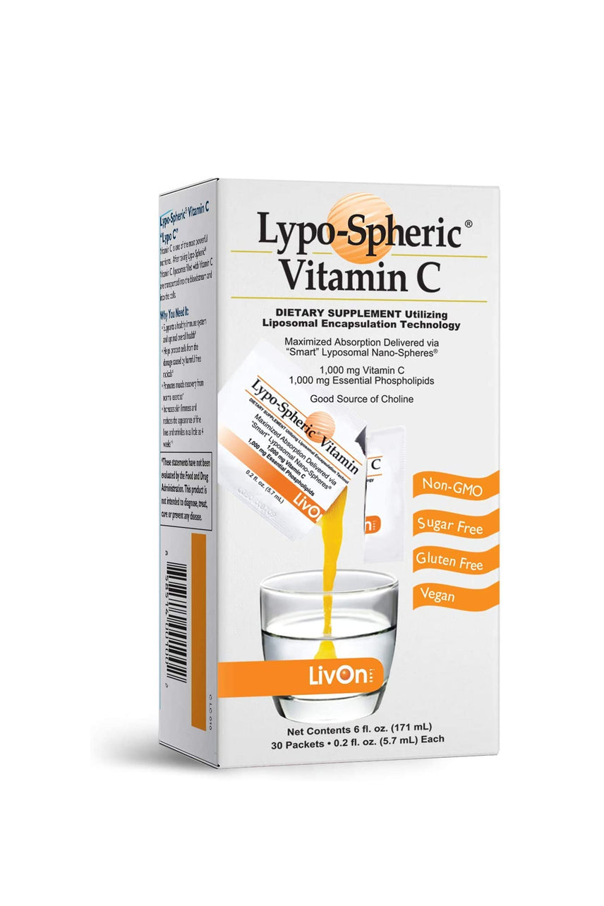 LivOn Lypo-Spheric Vitamin C 1000mg 30 Packets - Life Pharmacy St Lukes