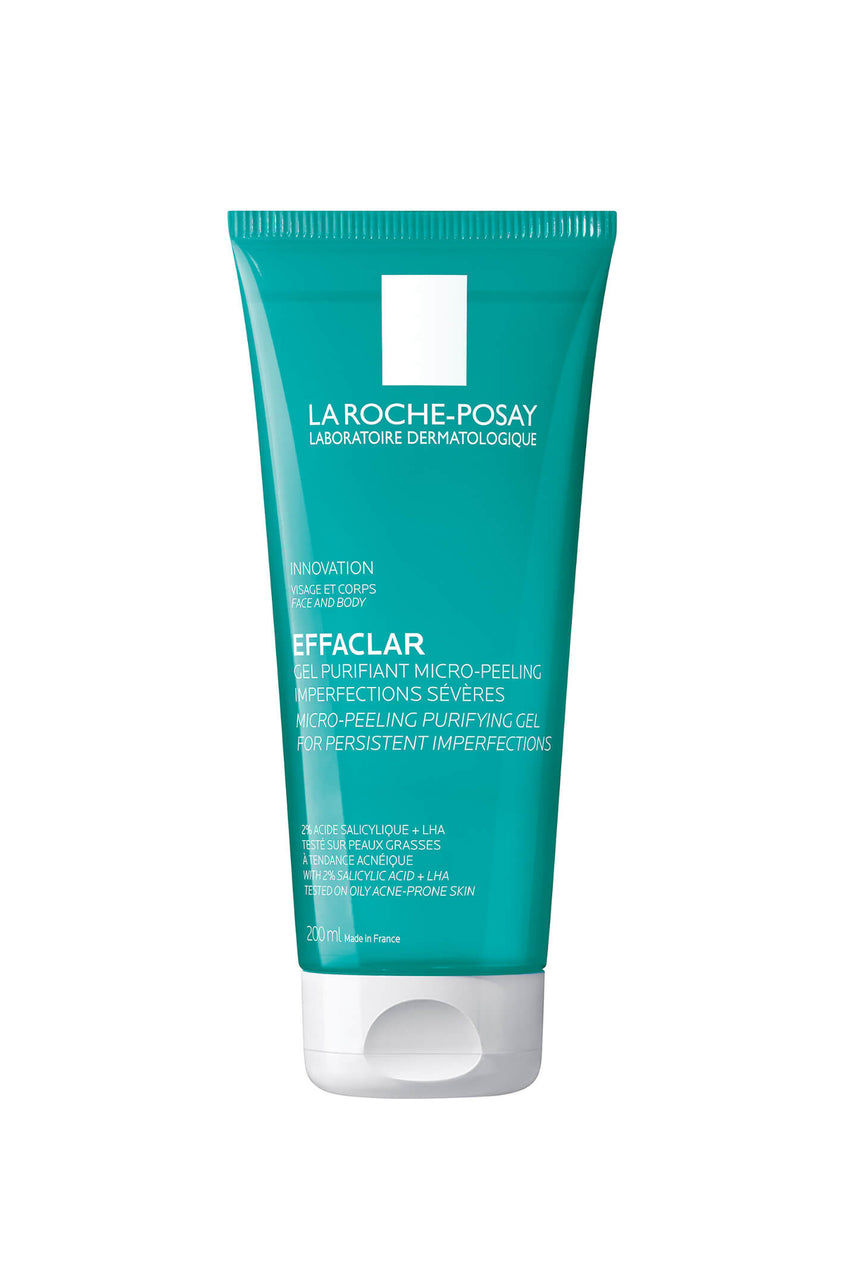 LA ROCHE-POSAY Effaclar Micro-peeling Purifying Gel Cleanser 200ml - Life Pharmacy St Lukes