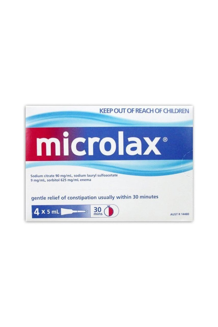 MICROLAX Micro Enemas 5ml 4 Pack - Life Pharmacy St Lukes