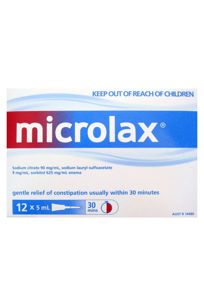 MICROLAX Micro Enemas 5mL 12pk - Life Pharmacy St Lukes