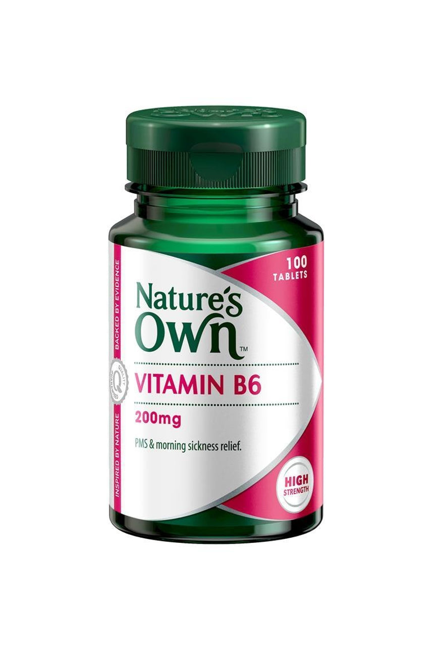 NATURE'S OWN Vitamin B6 200mg 60tab - Life Pharmacy St Lukes