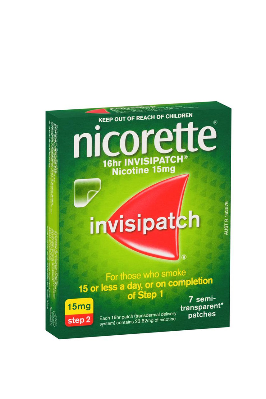 NICORETTE Quit Smoking 16hr Invisipatch 15mg 7 Patches - Life Pharmacy St Lukes