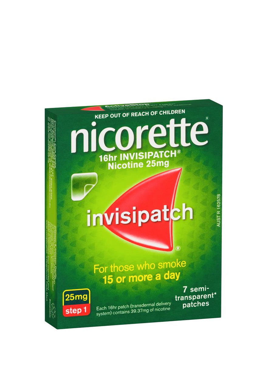 NICORETTE Quit Smoking 16hr Invisipatch Step 1 25mg 7 Pack - Life Pharmacy St Lukes