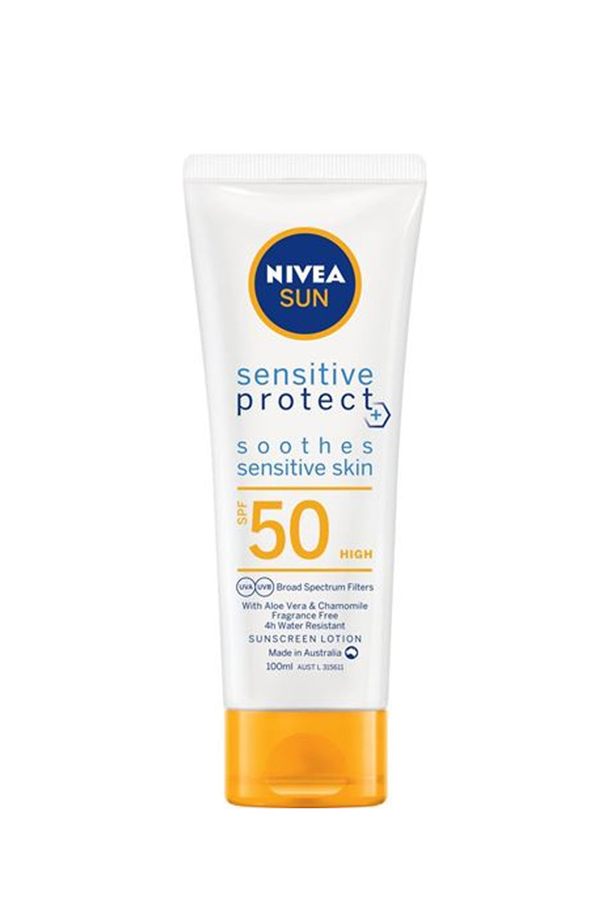 NIVEA Sun Sensitive Protect Sunscreen Lotion SPF50 100ml - Life Pharmacy St Lukes