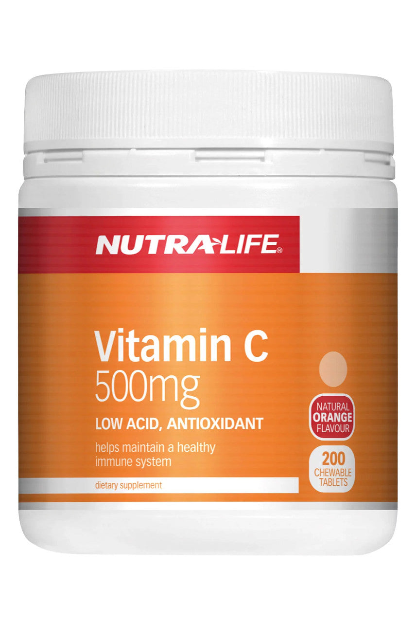 NUTRALIFE Vitamin C 500mg Chews 200 tabs - Life Pharmacy St Lukes