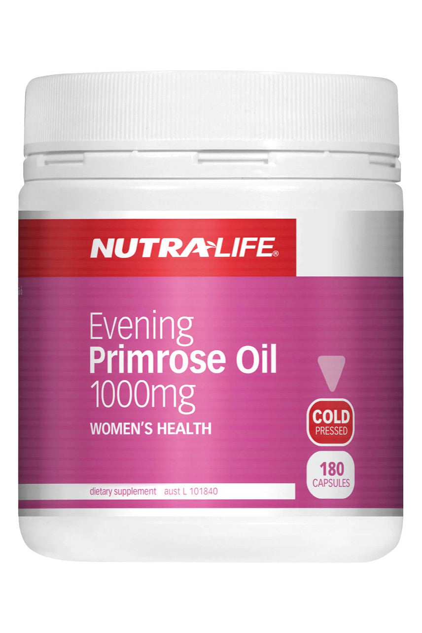 NUTRALIFE Evening Primrose Oil 1000mg 180caps - Life Pharmacy St Lukes