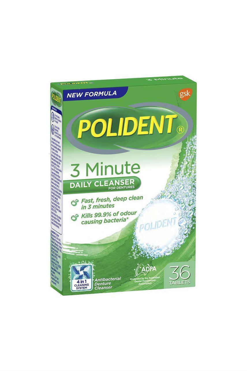 POLIDENT Express 3 Minute Denture Tab 36 - Life Pharmacy St Lukes