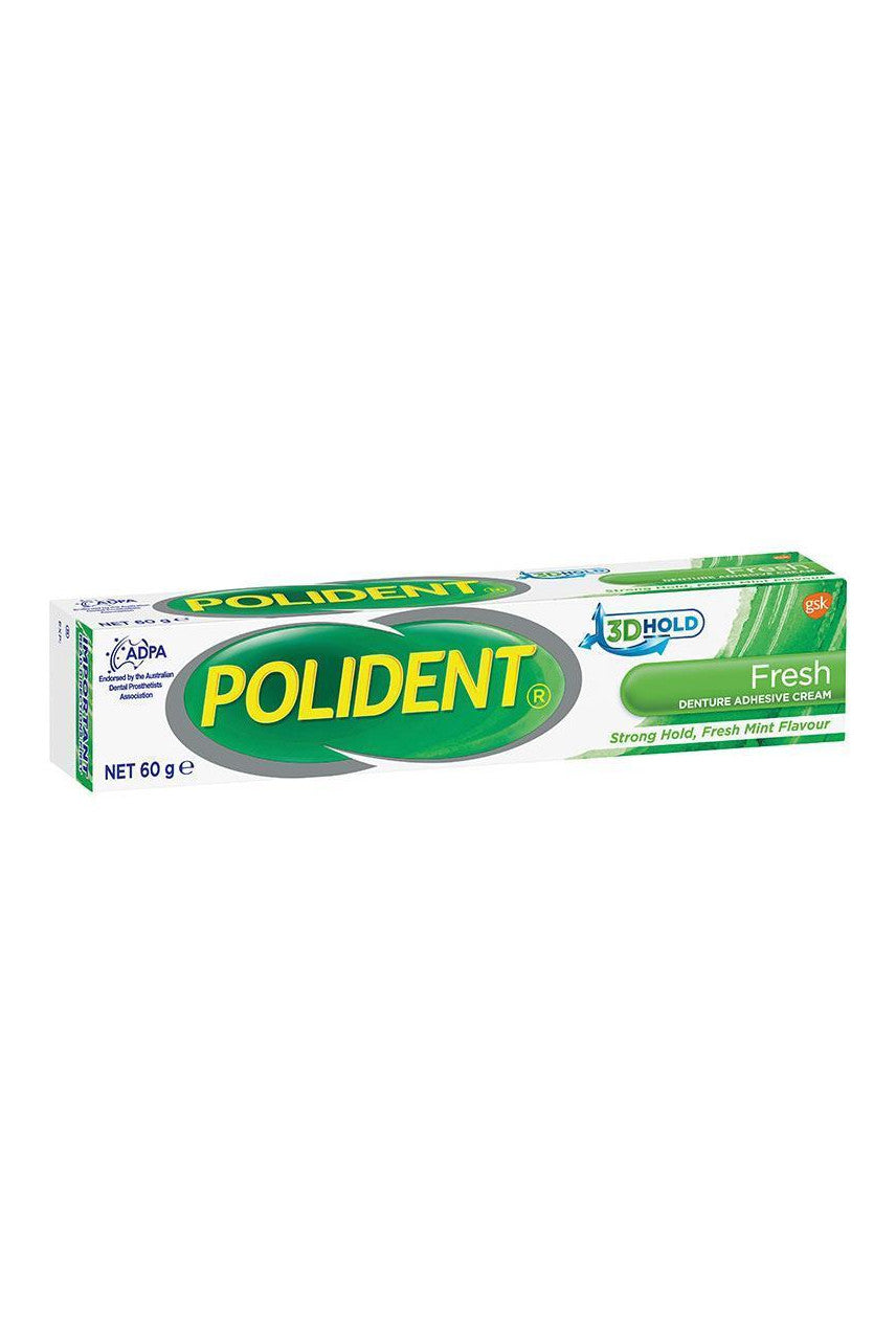 POLIDENT Fresh Mint Denture Adhesive Cream 60g - Life Pharmacy St Lukes