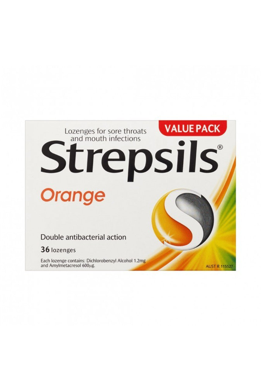 STREPSILS Orange Lozenges 36 - Life Pharmacy St Lukes