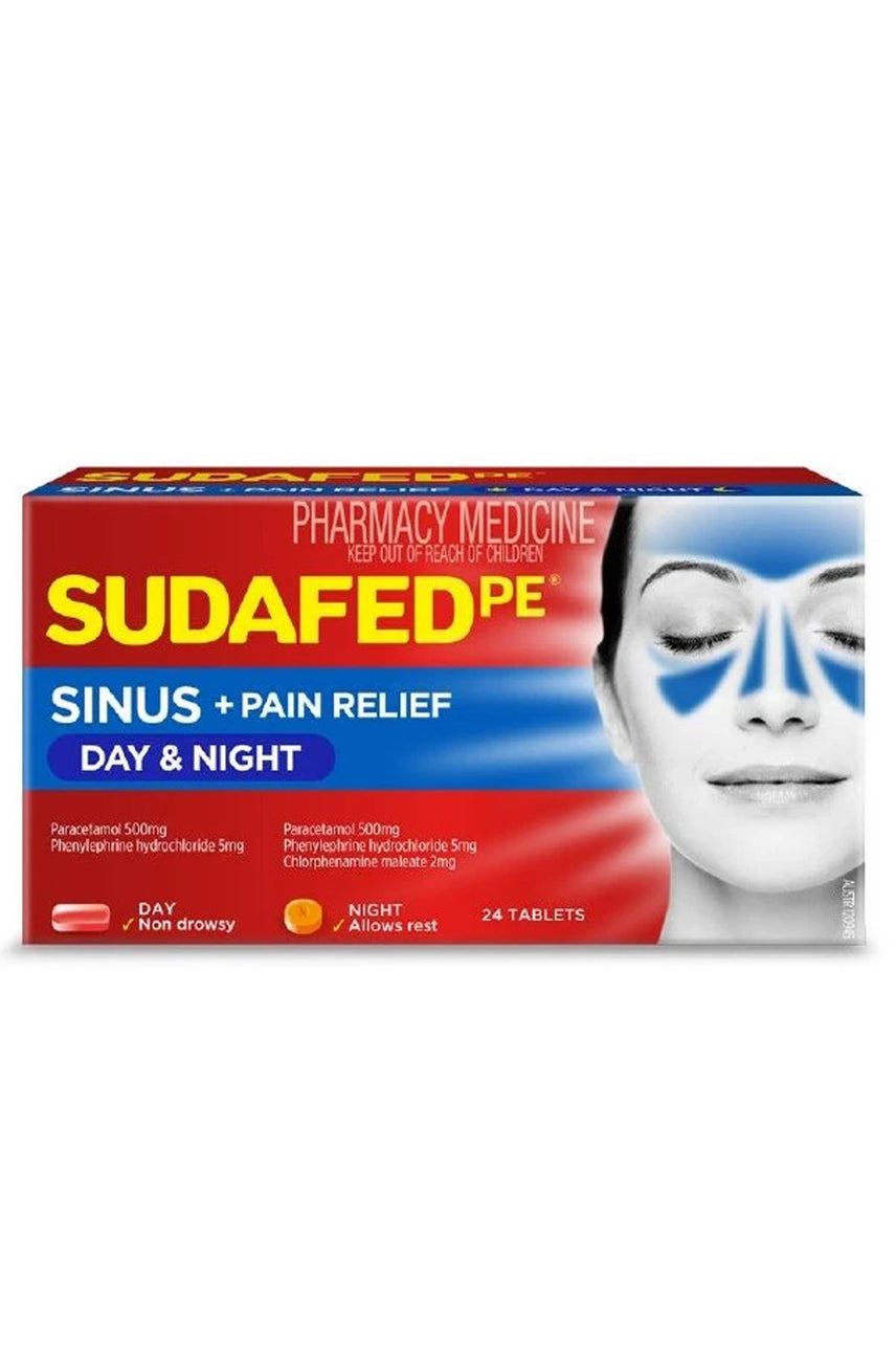 SUDAFED PE Day + Night Relief 24 Tabs - Life Pharmacy St Lukes