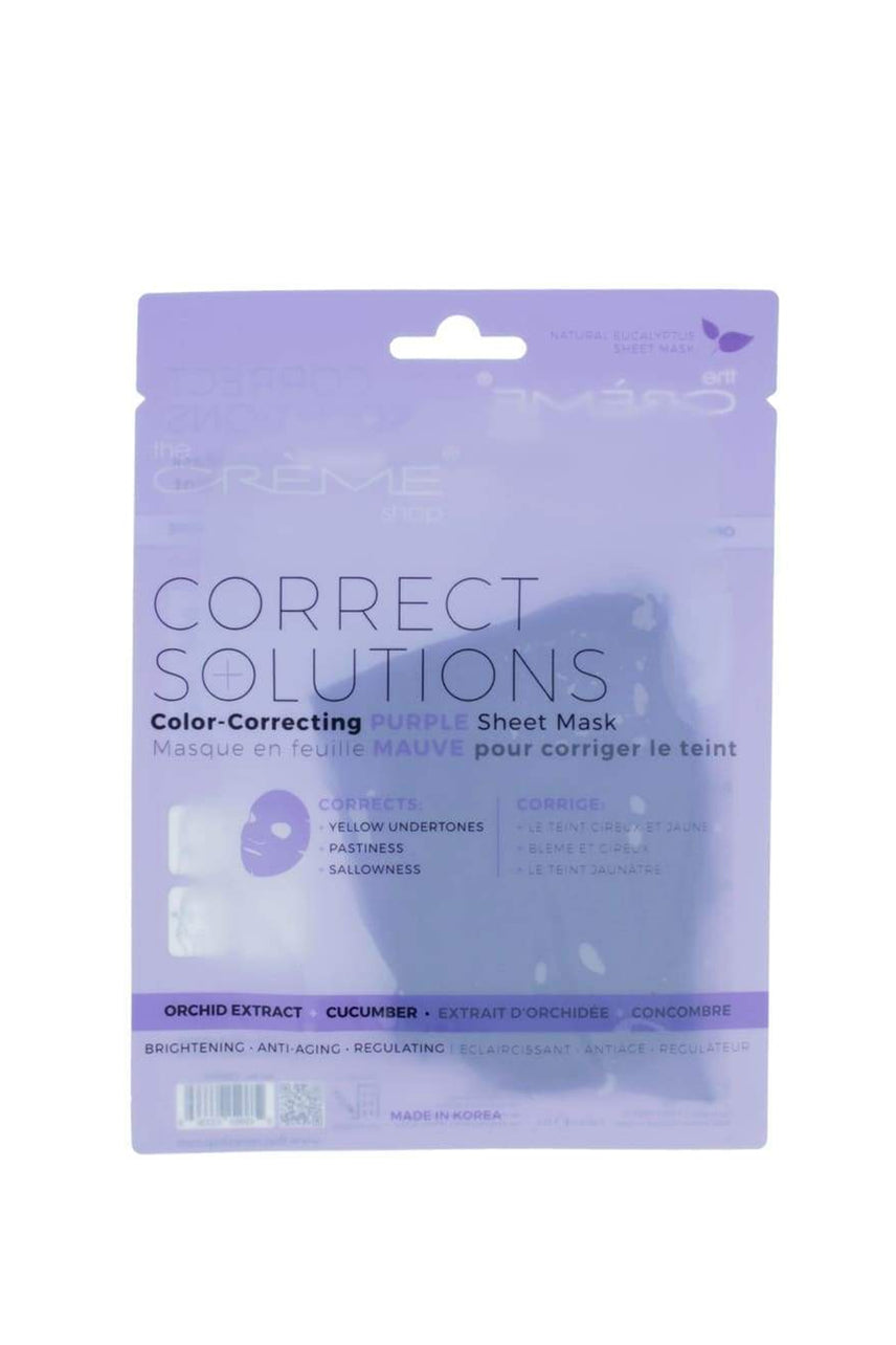 THE CRÈME SHOP Color-correcting Purple Sheet Mask - Life Pharmacy St Lukes