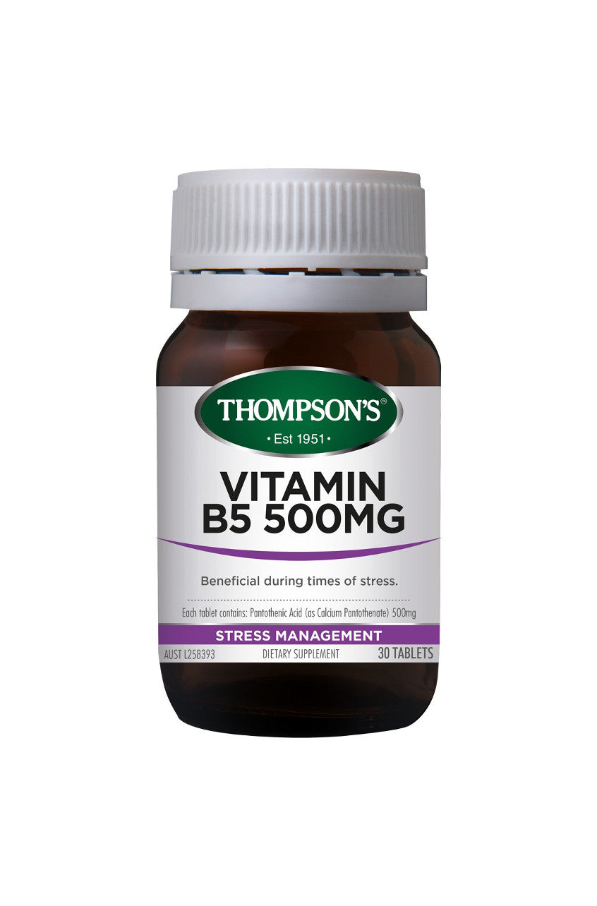 THOMPSONS Vitamin B5 500mg 30tabs - Life Pharmacy St Lukes