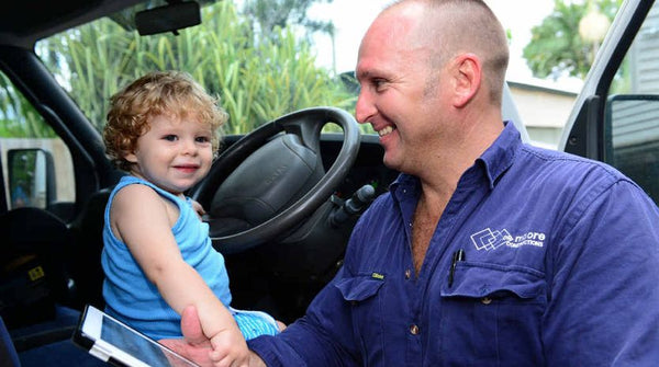 tradie with daughter